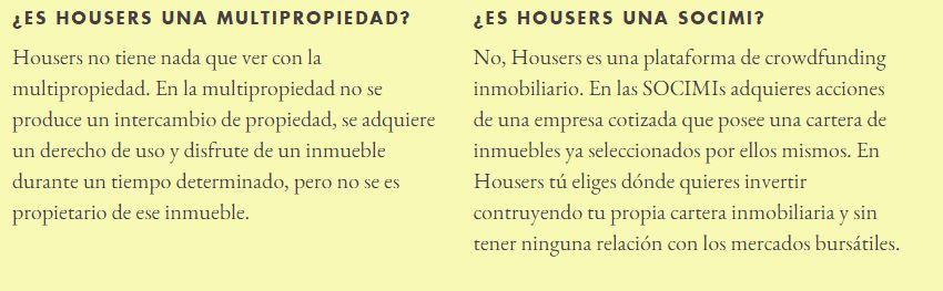Qué no es Housers