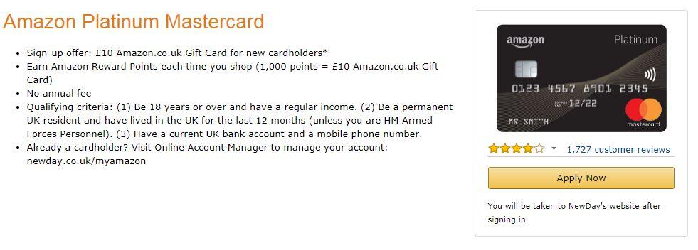 Tarjeta de crédito de Banco Amazon